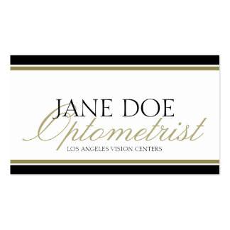 Optometrist Optometry Eye Doctor Gold Script Business Card Templates