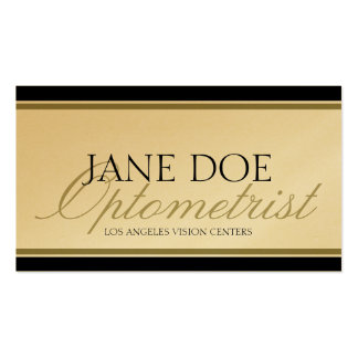 Optometrist Optometry Eye Doctor Gold Script Business Cards