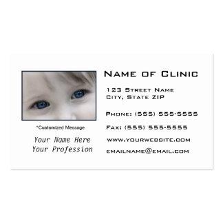 Optometrist Optometry Eye Exam Pack Of Standard Business Cards