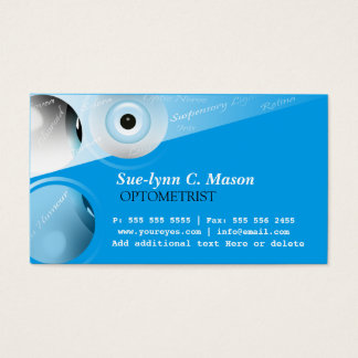 Optometrist Optometry Eyes Business Card