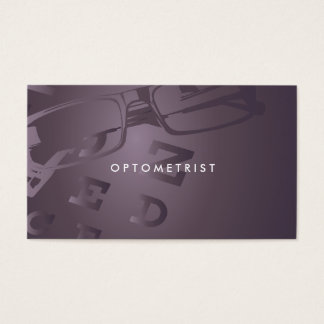Optometrist professional business card