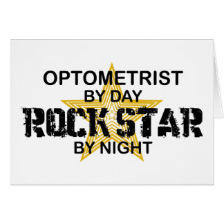 Optometrist Rock Star by Night Card