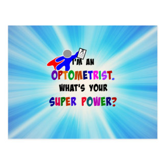 Optometrist Superhero custom design Postcard