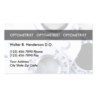 Optometrist Unique Business Cards