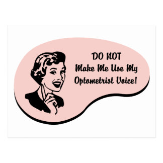 Optometrist Voice Postcard