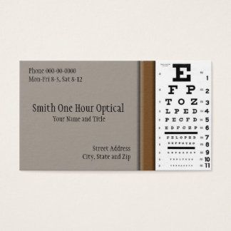 Optometrists Business Card