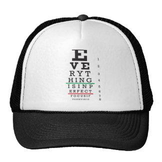 Optometry Eye Chart Illustration Trucker Hats