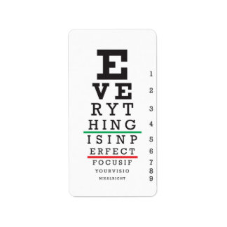 Optometry Eye Chart Illustration Label