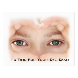 Optometry Eye Exam Appointment Reminder Postcard