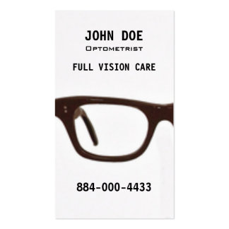 Optometry Eye Glasses Business Card Templates