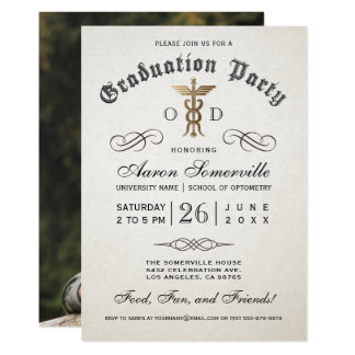 Optometry School Graduation Invitations