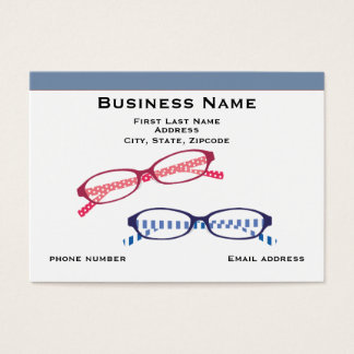 Optomitrist and Blue Border Business Card