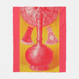 opulent mid-Victorian print decanters and... Fleece Blanket