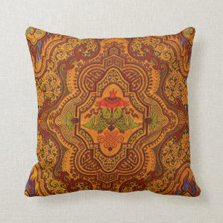 Opulent Oriental Silk Cushion