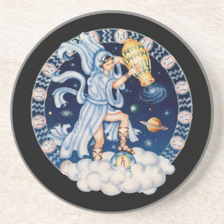 OPUS CHANGEABLE Zodiac Aquarius Coaster