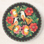 OPUS Hungarian Flower and Bird Drink Coasters