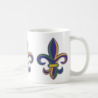OPUS Mardi Gras Fleur De Lis Coffee Mug