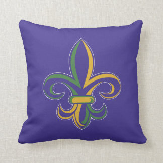 OPUS Mardi Gras Fleur De Lis Throw Pillow