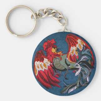 OPUS Rooster Basic Round Button Key Ring