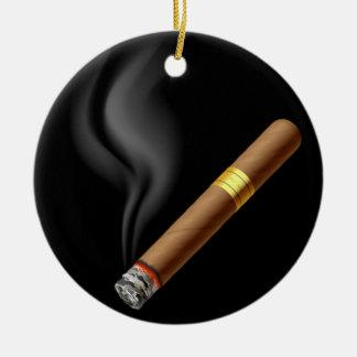 OPUS Smoldering Cigar Ceramic Ornament