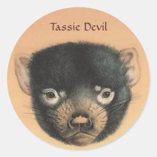 OPUS Tassie Devil Classic Round Sticker