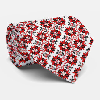 OPUS Ukrainian Embroidery Flower Tie
