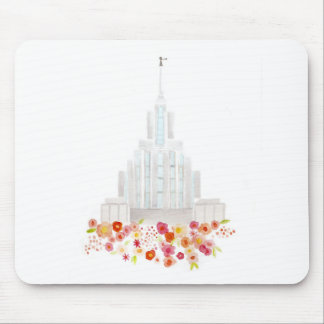 Oquirhh Mountain Temple Mousepad Watercolor