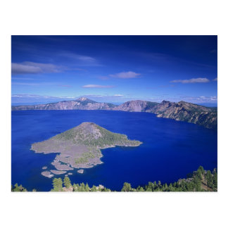 OR, Crater Lake NP, Wizard Island and Crater Postcard
