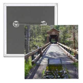 OR, Jackson County, McKee Covered Bridge 15 Cm Square Badge