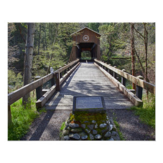 OR, Jackson County, McKee Covered Bridge Poster