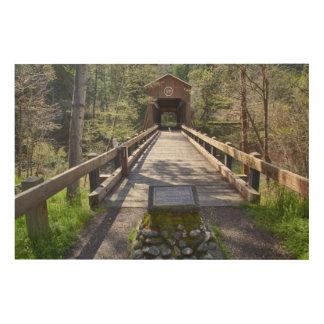 OR, Jackson County, McKee Covered Bridge Wood Canvas