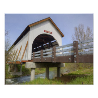 OR, Jackson County, Wimer Covered Bridge Poster
