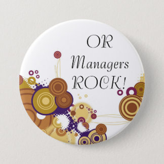 OR Manager 5 7.5 Cm Round Badge