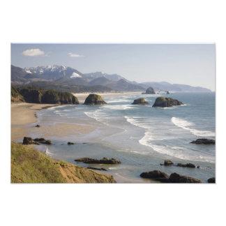 OR, Oregon Coast, Ecola State Park, Crescent Photographic Print