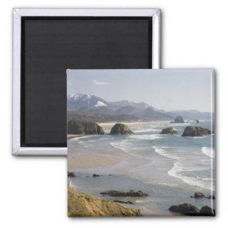 OR, Oregon Coast, Ecola State Park, Crescent Square Magnet