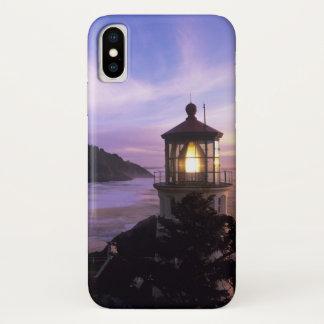 OR, Oregon Coast, Heceta Head Lighthouse, on iPhone X Case