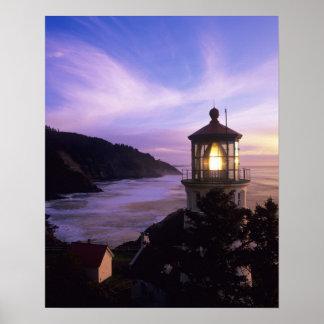 OR, Oregon Coast, Heceta Head Lighthouse, on Poster