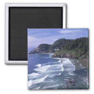 OR, Oregon Coast, Heceta Head Lighthouse, on Square Magnet