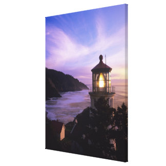 OR, Oregon Coast, Heceta Head Lighthouse, on Stretched Canvas Print