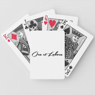Ora et Labora Bicycle Playing Cards