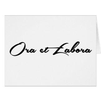 Ora et Labora Card