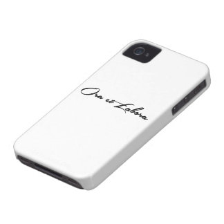 Ora et Labora iPhone 4 Case-Mate Cases