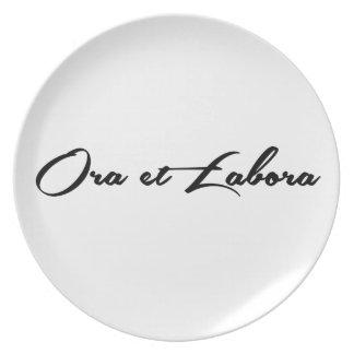 Ora et Labora Plate
