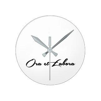 Ora et Labora Round Clock