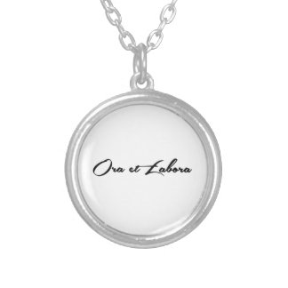 Ora et Labora Silver Plated Necklace