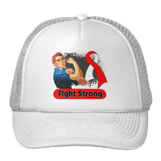 Oral Cancer Fight Strong Rosie Riveter Cap