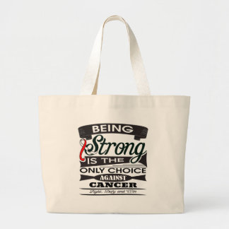 Oral Cancer Strong is The Only Choice Tote Bags