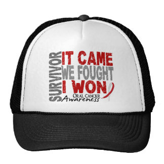 Oral Cancer Survivor It Came We Fought I Won Trucker Hats