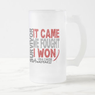 Oral Cancer Survivor It Came We Fought I Won Coffee Mugs