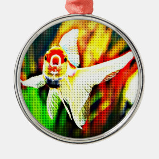 Oranda Goldfish Pop Art Colorful Metal Ornament